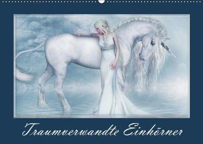 Traumverwandte Einhörner (Wandkalender 2019 DIN A2 quer), Andrea Tiettje