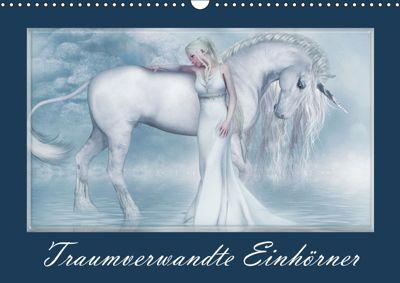 Traumverwandte Einhörner (Wandkalender 2019 DIN A3 quer), Andrea Tiettje