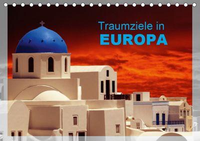 Traumziele in Europa (Tischkalender 2019 DIN A5 quer), Klaus-Peter Huschka