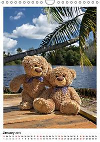 Travelling Teddy Cuba Edition 2019 (Wall Calendar 2019 DIN A4 Portrait) - Produktdetailbild 1