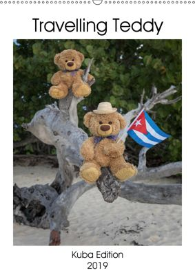 Travelling Teddy Kuba Edition 2019 (Wandkalender 2019 DIN A2 hoch), Christian Kneidinger C-K-Images