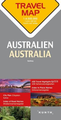 Travelmap Reisekarte Australien / Australia 1:4.000.000 -  pdf epub