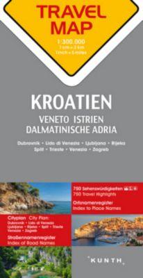 Travelmap Reisekarte Kroatien 1:300.000