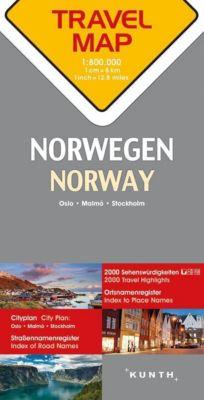 Travelmap Reisekarte Norwegen / Norway 1:800.000; Norge; Norvège
