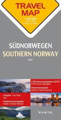 Travelmap Reisekarte Südnorwegen / Southern Norway / Sor Norge / Norvège du Sud 1:300.000