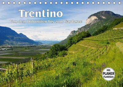 Trentino - Von den Dolomiten bis zum Gardasee (Tischkalender 2019 DIN A5 quer), LianeM