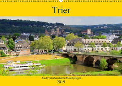 Trier - An der wunderschönen Mosel gelegen (Wandkalender 2019 DIN A2 quer), Arno Klatt