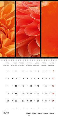 Trilogy of flower colours (Wall Calendar 2019 300 × 300 mm Square) - Produktdetailbild 3