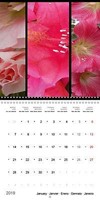 Trilogy of flower colours (Wall Calendar 2019 300 × 300 mm Square) - Produktdetailbild 1