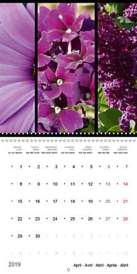Trilogy of flower colours (Wall Calendar 2019 300 × 300 mm Square) - Produktdetailbild 4