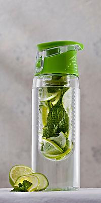Trinkflasche mit Infuser, 750ml, grün - Produktdetailbild 1
