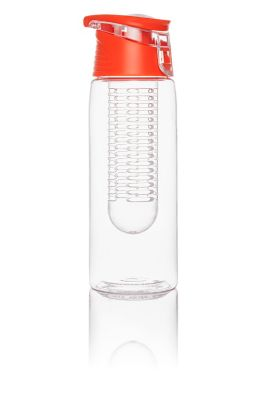 Trinkflasche mit Infuser, 750ml, orange