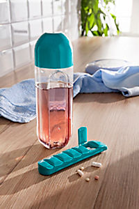 Trinkflasche mit Pillendose - Produktdetailbild 1