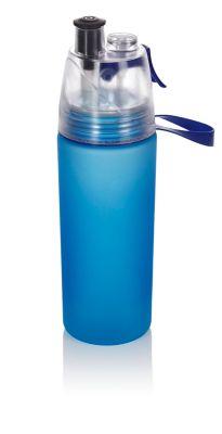 Trinkflasche mit Sprühnebel, 550ml blau