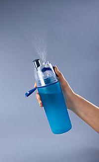 Trinkflasche mit Sprühnebel, 550ml blau - Produktdetailbild 1