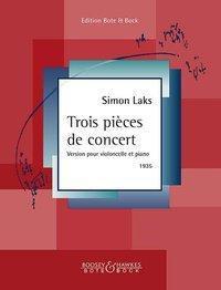 Trois pièces de concert. Violoncello und Klavier