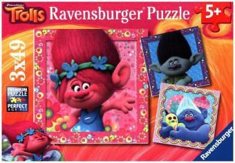 Trolls, Quietschbunte Freunde (Kinderpuzzle)