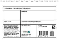 Tropenfeeling - Fernwehbaum Kokospalme (Tischkalender 2019 DIN A5 quer) - Produktdetailbild 1