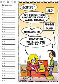 Trumix Cartoons - Autsch, das tut weh! (Tischkalender 2019 DIN A5 hoch) - Produktdetailbild 1