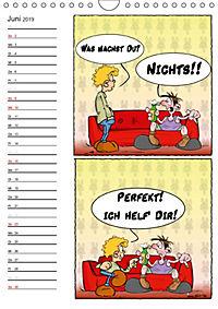 Trumix Cartoons - Autsch, das tut weh! (Wandkalender 2019 DIN A4 hoch) - Produktdetailbild 6