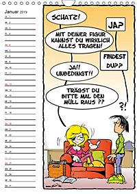Trumix Cartoons - Autsch, das tut weh! (Wandkalender 2019 DIN A4 hoch) - Produktdetailbild 1