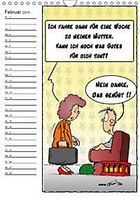 Trumix Cartoons - Autsch, das tut weh! (Wandkalender 2019 DIN A4 hoch) - Produktdetailbild 2