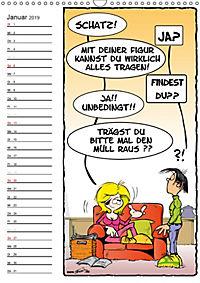 Trumix Cartoons - Autsch, das tut weh! (Wandkalender 2019 DIN A3 hoch) - Produktdetailbild 1