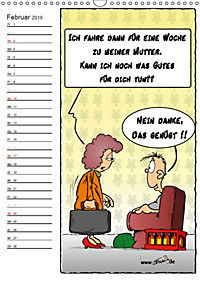 Trumix Cartoons - Autsch, das tut weh! (Wandkalender 2019 DIN A3 hoch) - Produktdetailbild 2