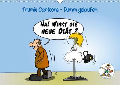 Trumix Cartoons - Dumm gelaufen (Wandkalender 2019 DIN A3 quer), Reinhard Trummer
