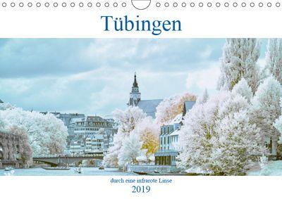 Tübingen durch eine infrarote linse (Wandkalender 2019 DIN A4 quer), Mark Bangert