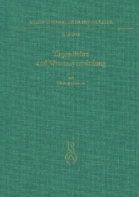 Tugendlehre und Wissensvermittlung, Christoph Schanze