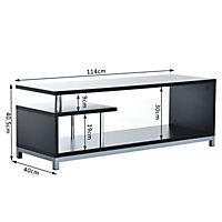 TV Lowboard (Farbe: schwarz) - Produktdetailbild 2