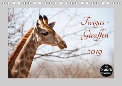 Twigas - Giraffen (Tischkalender 2019 DIN A5 quer), Kirsten Karius