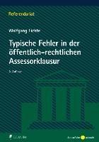 Typische Fehler in der öffentlich-rechtlichen Assessorklausur, Wolfgang Fichte