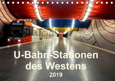 U-Bahn-Stationen des Westens (Tischkalender 2019 DIN A5 quer), Karsten Brix