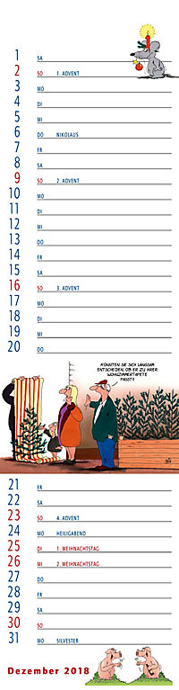 U.Stein Streifenkalender 2018 - Produktdetailbild 12
