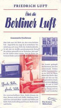 Über die Berliner Luft, Friedrich Luft