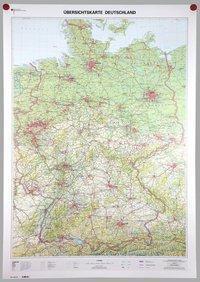 Übersichtskarte Deutschland 1:750000, Planokarte - BKG - Bundesamt für Kartographie und Geodäsie |