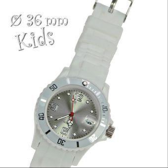 Uhr Silikon-Style Kids weiß