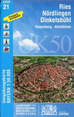 UK50-21 Ries, Nördlingen, Dinkelsbühl, Breitband und Vermessung, Bayern Landesamt für Digitalisierung