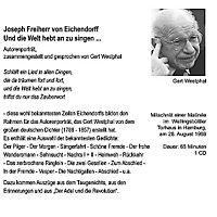 Und die Welt hebt an zu singen . . ., 1 Audio-CD - Produktdetailbild 1