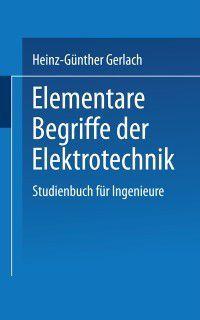 Uni-Taschenbucher: Elementare Begriffe der Elektrotechnik, Gerlach