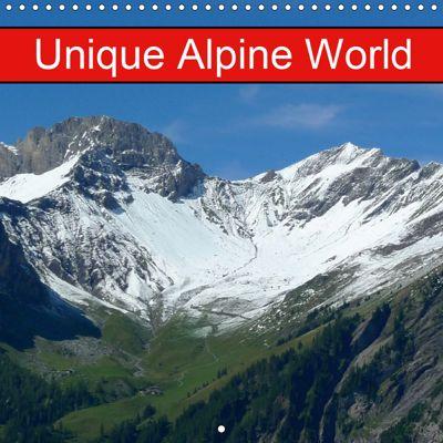 Unique Alpine World (Wall Calendar 2019 300 × 300 mm Square), kattobello