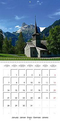 Unique Alpine World (Wall Calendar 2019 300 × 300 mm Square) - Produktdetailbild 1