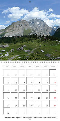 Unique Alpine World (Wall Calendar 2019 300 × 300 mm Square) - Produktdetailbild 9