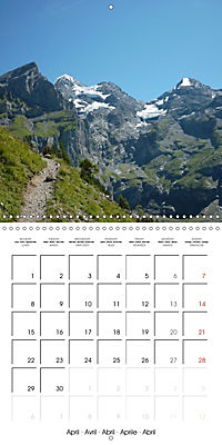 Unique Alpine World (Wall Calendar 2019 300 × 300 mm Square) - Produktdetailbild 4