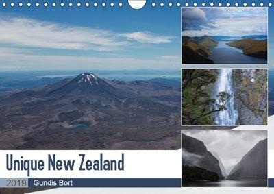 Unique New Zealand (Wall Calendar 2019 DIN A4 Landscape), Gundis Bort