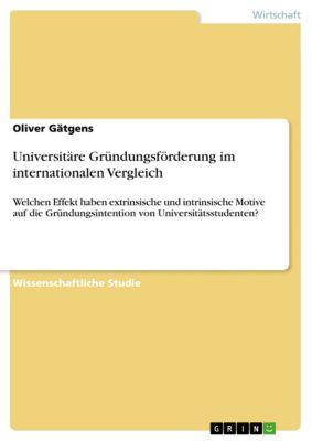 Universitäre Gründungsförderung im internationalen Vergleich, Oliver Gätgens