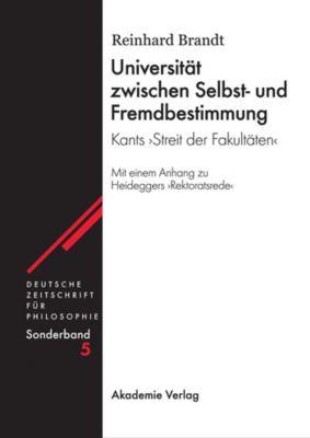 Universität zwischen Selbst- und Fremdbestimmung, Reinhard Brandt