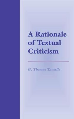 University of Pennsylvania Press: A Rationale of Textual Criticism, G. Thomas Tanselle